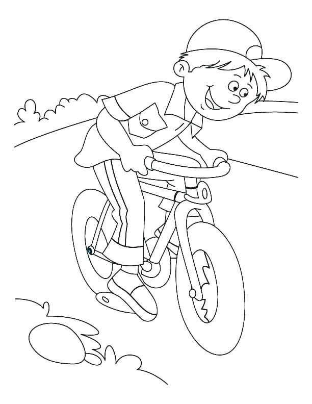 612x792 Bicycle Coloring Pages
