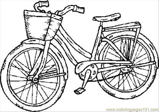 650x458 Bicycle Safety Coloring Pages Free Printable Coloring Page Old