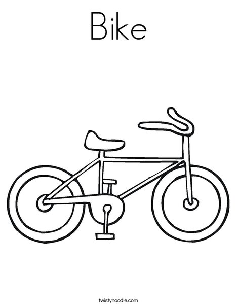 468x605 Bicycle Coloring Pages For Preschoolers