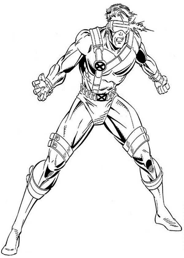 600x840 X Men, X Men Cyclops Attack Coloring Page Coloring Pages