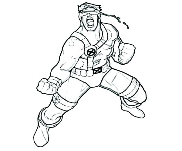 600x500 Xmen Coloring Pages X Men Coloring Page Inspirational Cyclops