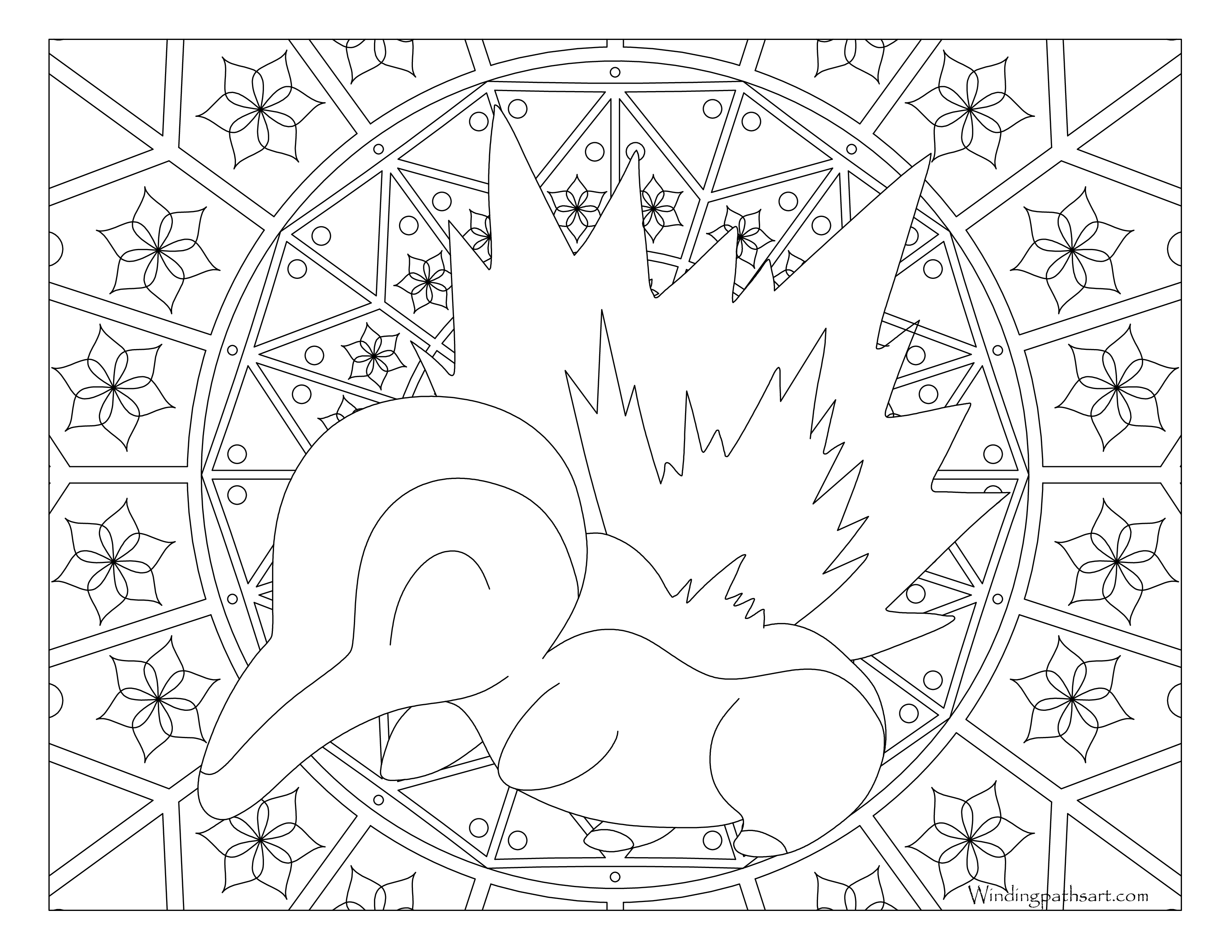 Cyndaquil Coloring Page