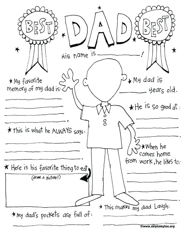600x746 Fathers Day Coloring Pages For Kids