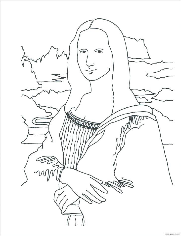 728x952 Marvelous Leonardo Da Vinci Coloring Pages Coloring Page Medium