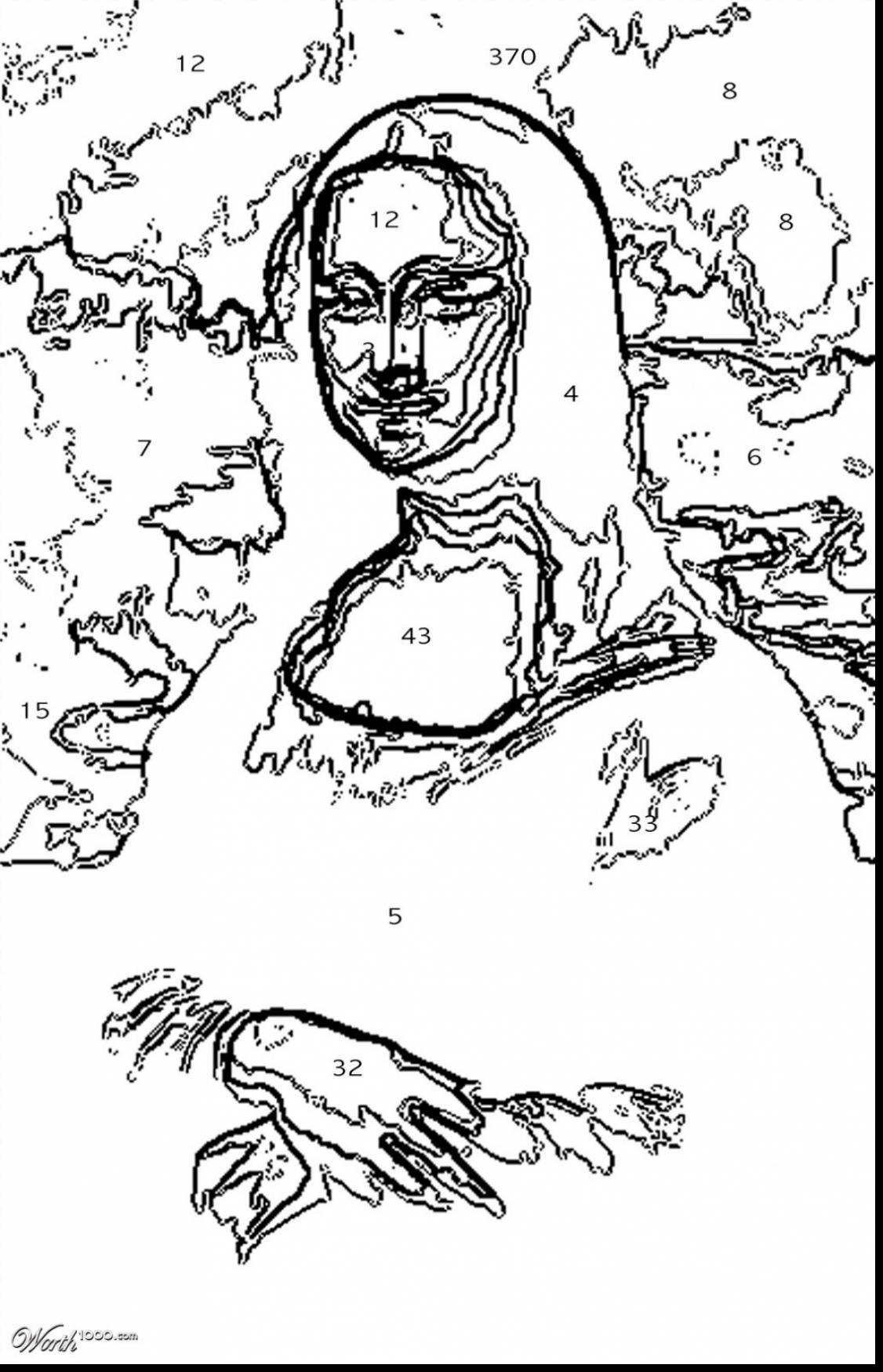 1126x1750 Cool Great Leonardo Da Vinci Coloring Pages With Mona Lisa