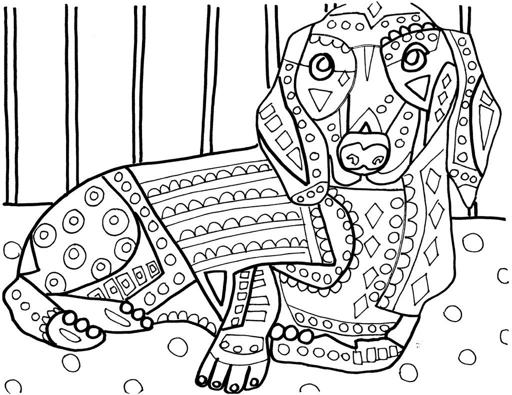 1024x791 Heather Galler On Dachshunds, Adult Coloring And Color Sheets
