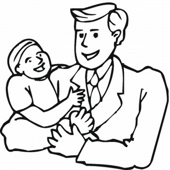 570x570 Father And Son Coloring Pages