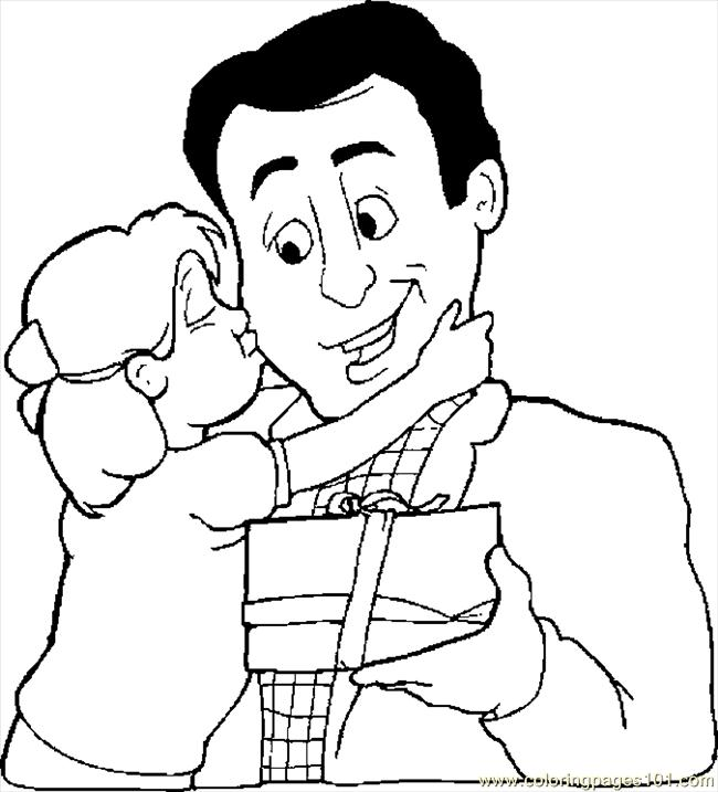 650x717 Gift For Dad Coloring Page