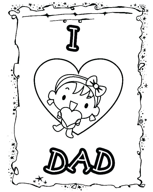 600x750 Best Dad Coloring Pages Dad Coloring Page For The Best Dad Skip