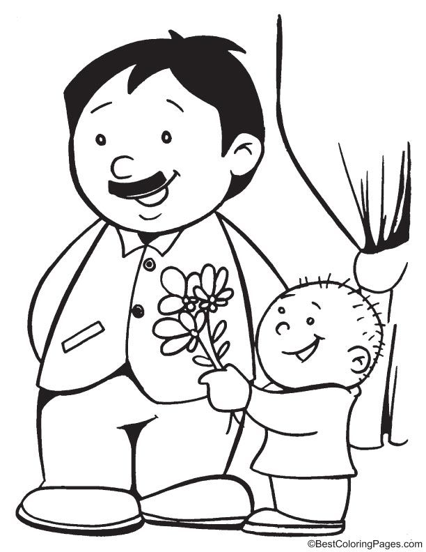 612x792 I Love You Dad Coloring Page Coloring Pages Dads