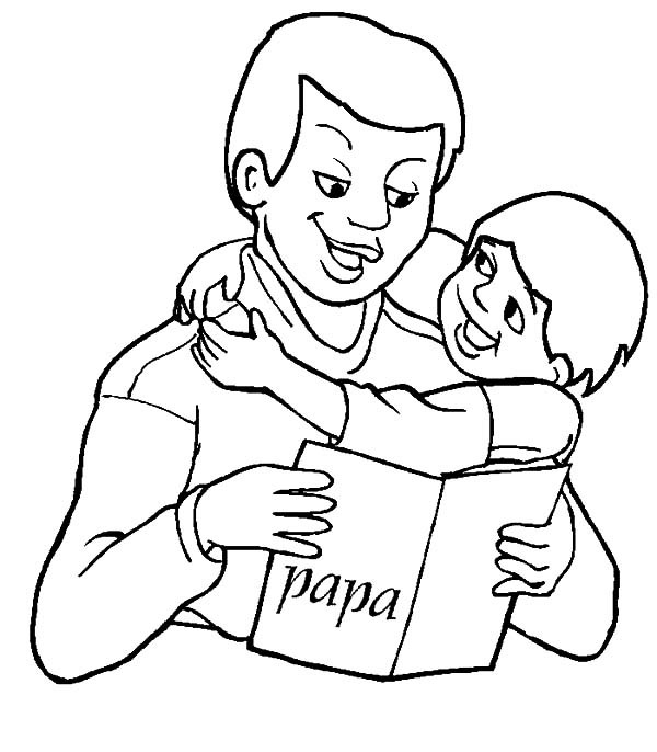 600x686 Reading Fairy Tale Book Best Dad Coloring Pages Best Place To Color