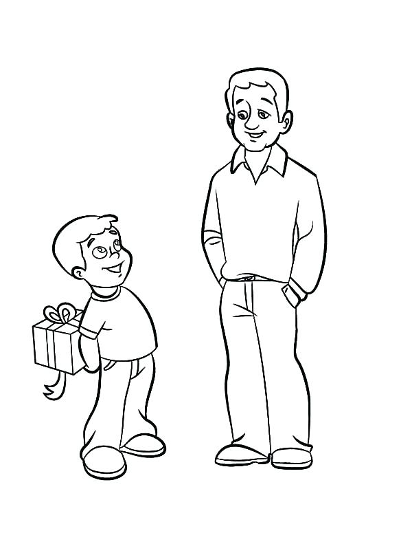 600x775 Dad Coloring Page Timeless Dad Coloring Page American Dad
