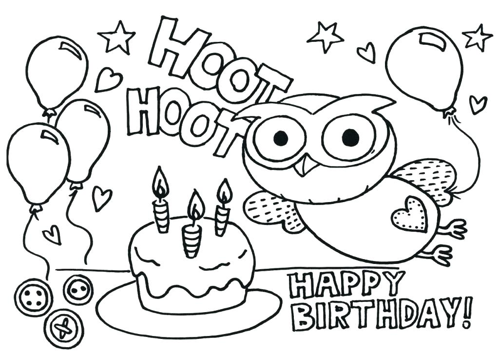 1024x727 Free Printable Happy Birthday Coloring Pages Happy Birthday