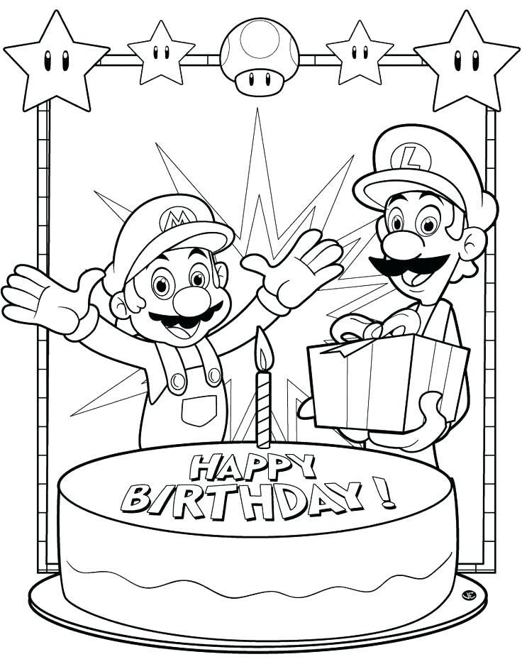 736x936 Birthday Coloring Page Printable Happy Birthday Coloring Pages