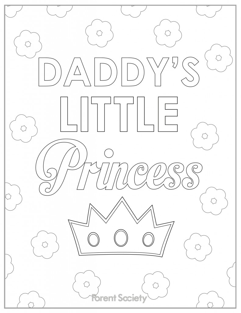 791x1024 I Love You Daddy Coloring Page Free Printable Pages