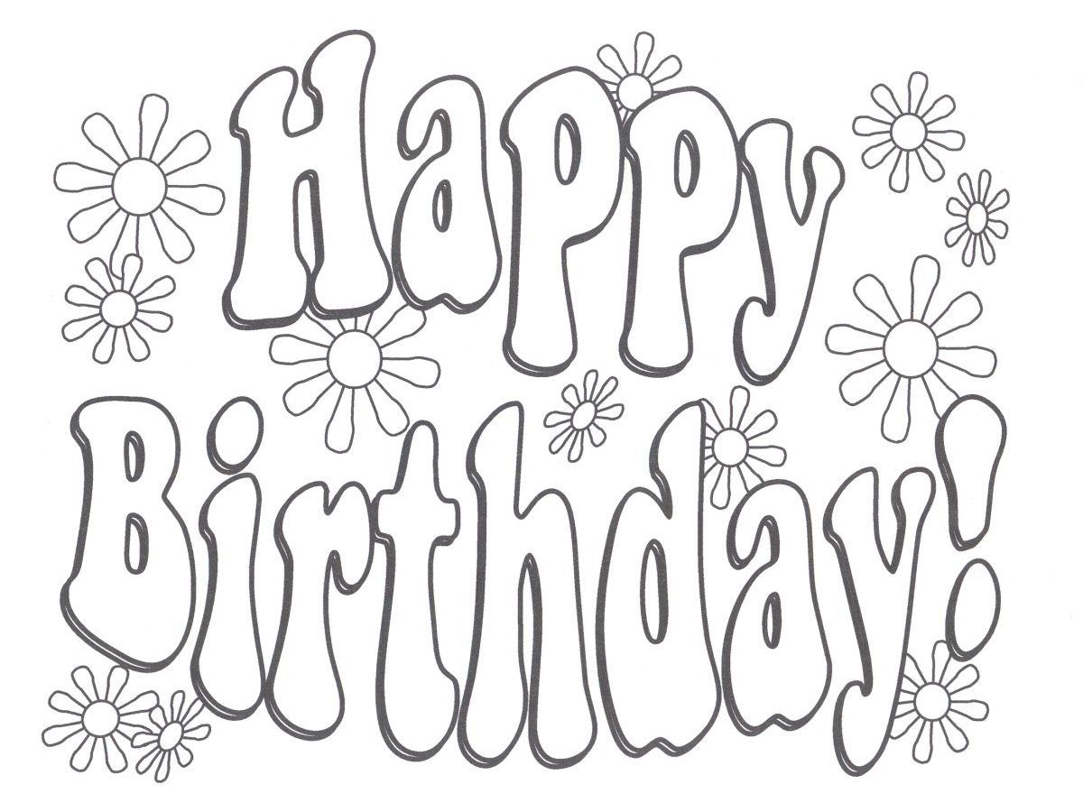 1200x900 Coloring For Kidsppy Birthday Daddy Love You Pages Free Printable
