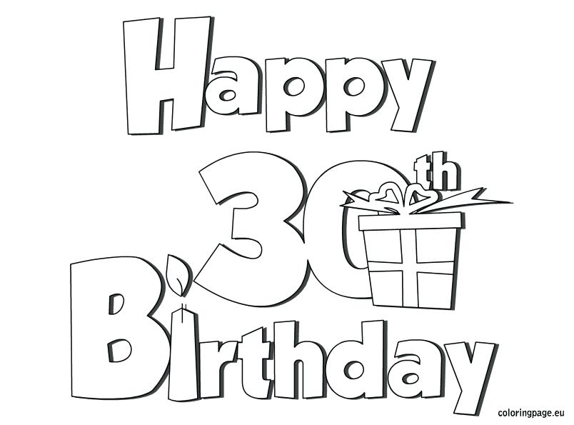 804x595 Happy Birthday Coloring Pages For Dad