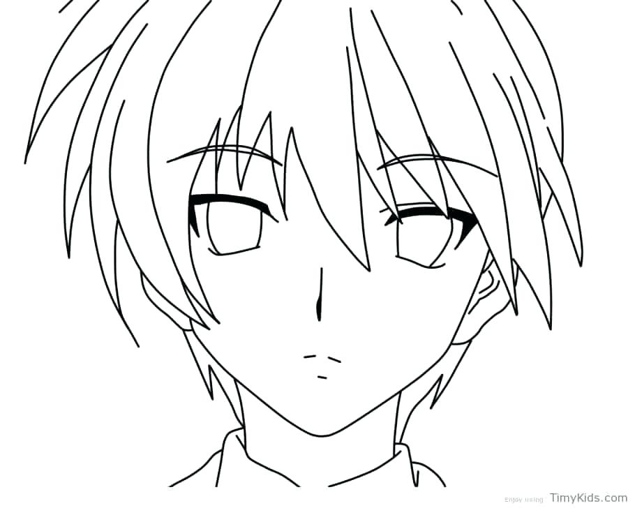 910x728 Anime Boy Coloring Pages Anime Boy Coloring Pages Anime Boy
