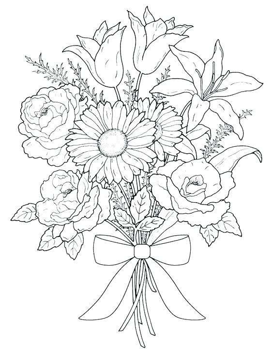 564x720 Intricate Flower Coloring Pages
