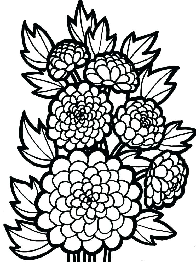 750x1000 A Flower Coloring Page Download Pretty Flower Coloring Pages