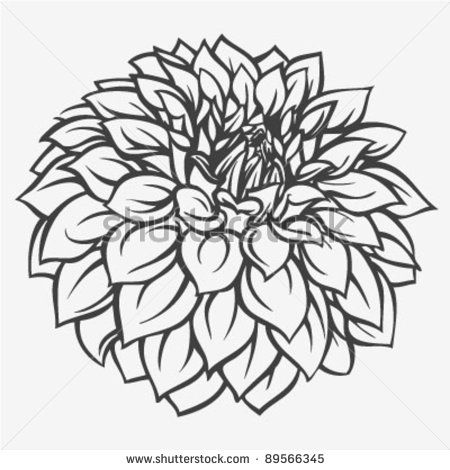 450x470 Letra Dahlia Colouring Pages