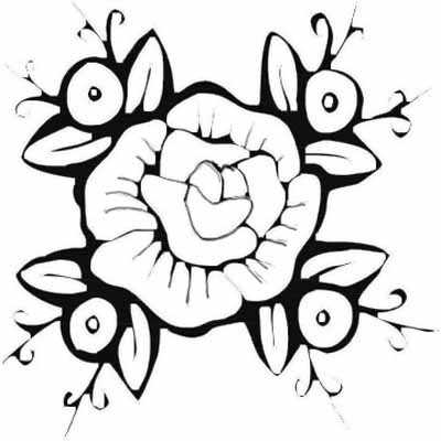 400x400 Beautiful Flower Coloring Pages With Delicate Forms Of Natural