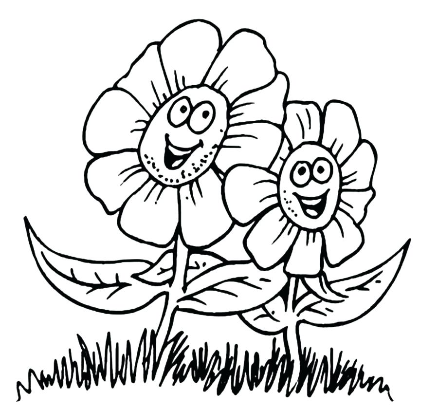 900x842 Big Flower Coloring Pages Flower Coloring Page Dahlia Flower