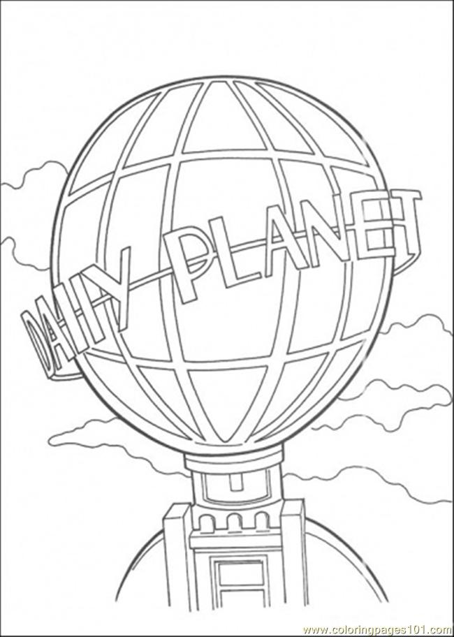 650x912 Daily Planet Building Coloring Page