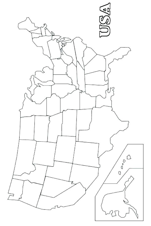 600x900 United States Map Coloring Daily Coloring Pages Coloring Page