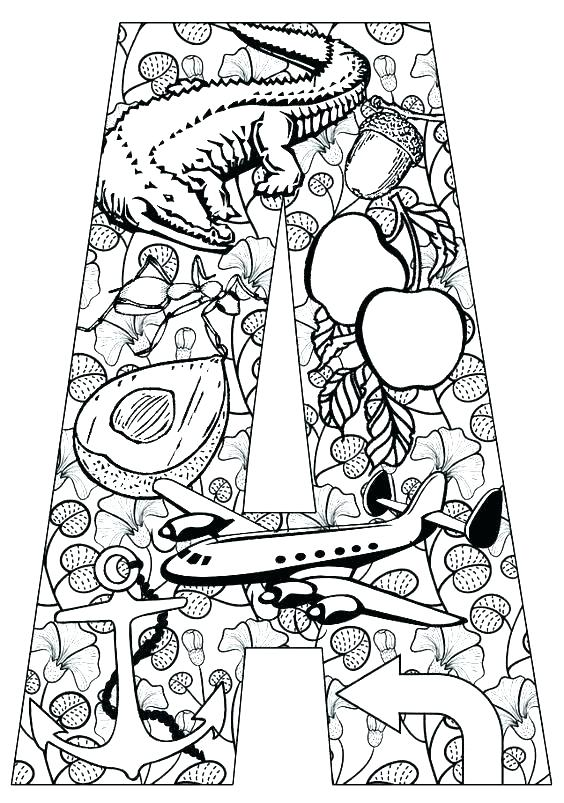 564x803 Coloring Pages Of The Alphabet New Alphabet I Coloring Pages