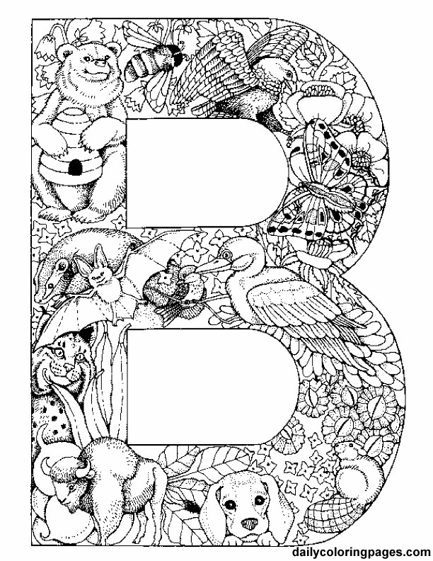 612x792 Daily Coloring Pages Letters To Colour In And Print Free Mandala