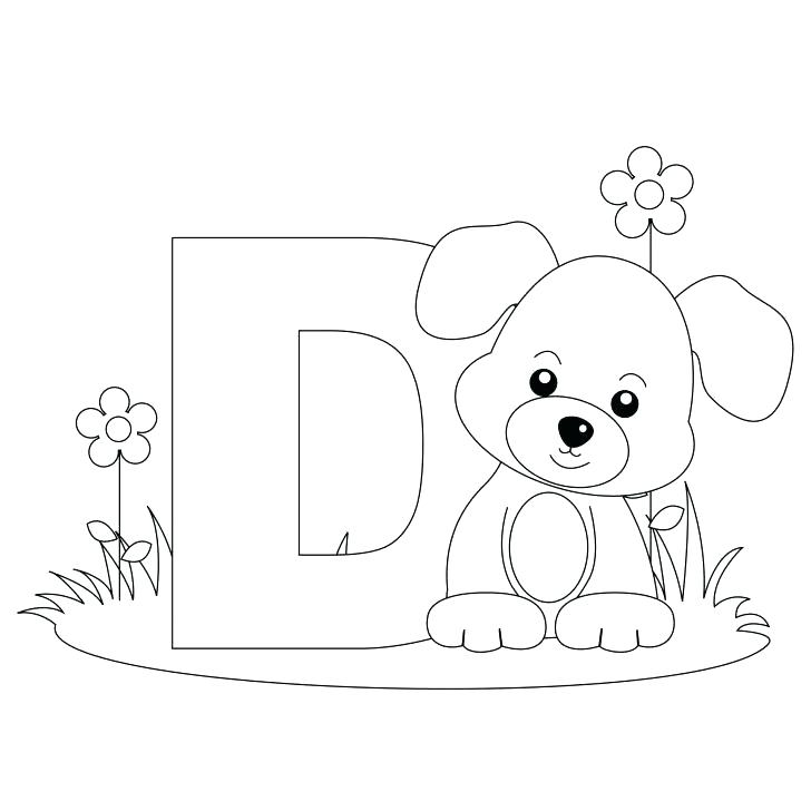728x728 Animal Alphabet Letters Coloring Pages