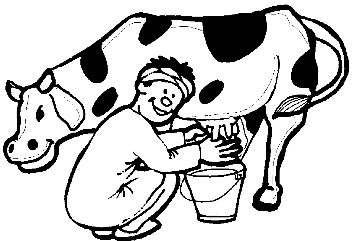 Dairy Cow Coloring Pages