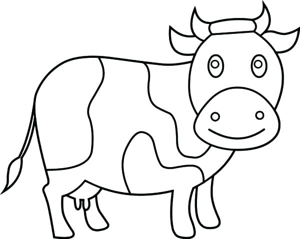 600x479 Cow Coloring Pages Dairy Cow Coloring Pages Coloring Pages Flowers