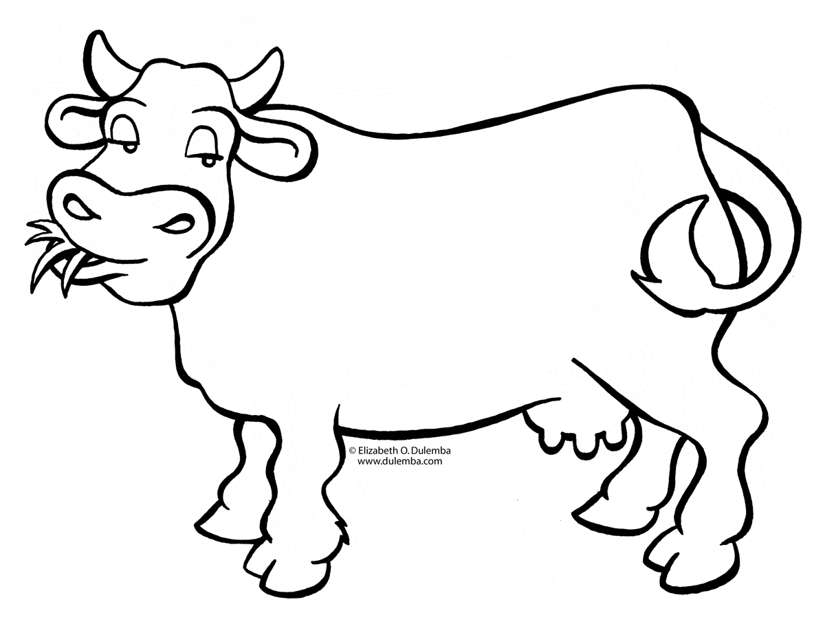 1200x927 Dairy Cow Coloring Pages Collection