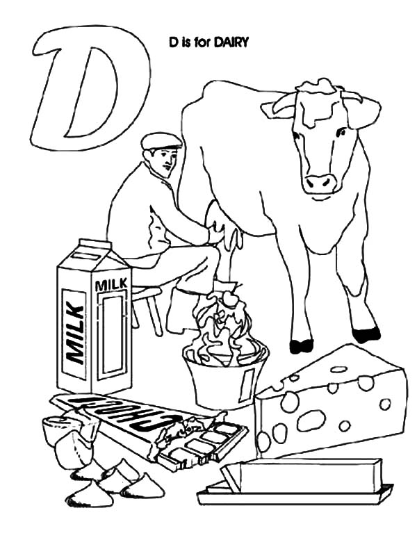600x777 Dairy Cow Product Coloring Pages