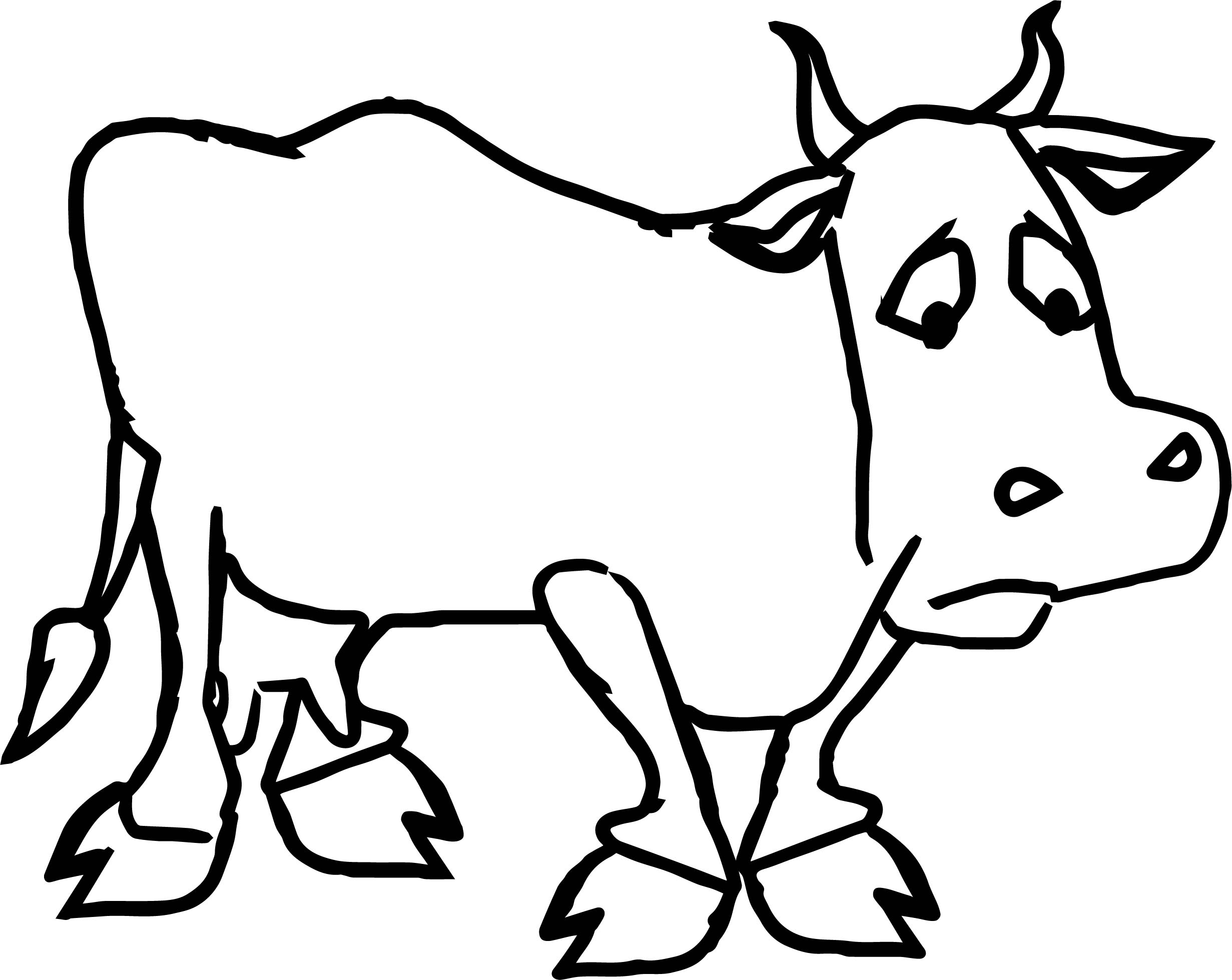 2462x1959 Sad Farmer Cartoon Sad Cow Coloring Page Wecoloringpage