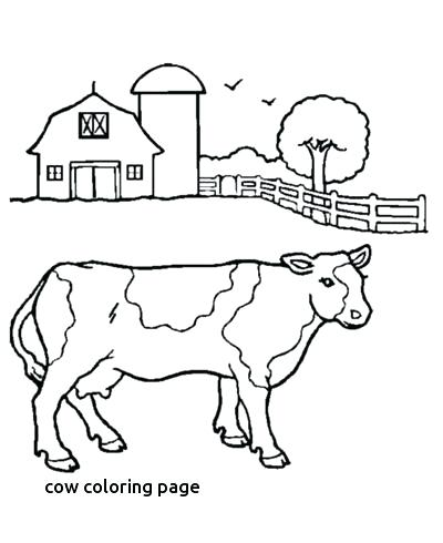 400x490 Cows Coloring Pages
