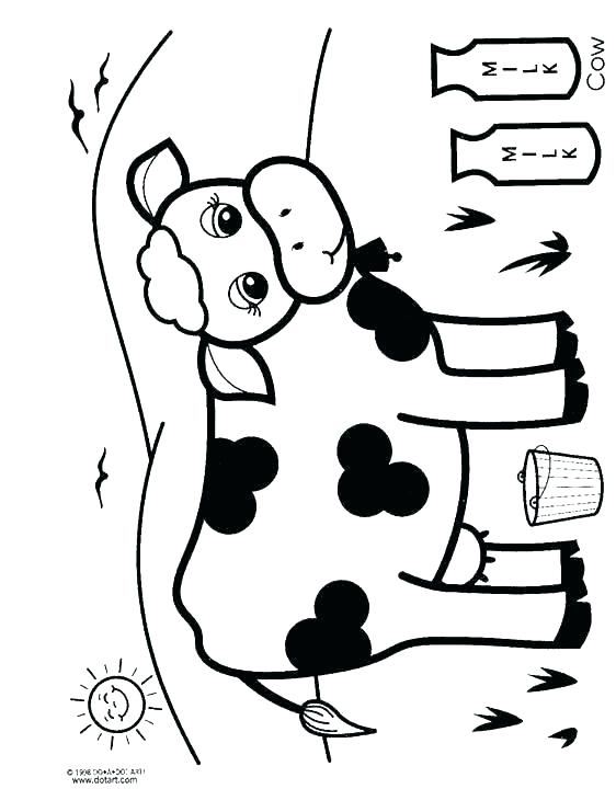 562x720 Confused Dairy Cow Coloring Pages And Confused Dairy Cow Coloring
