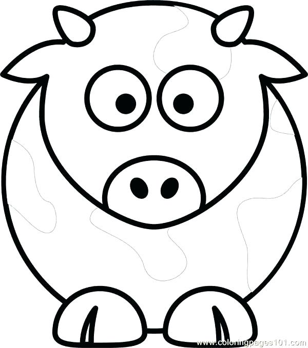600x679 Cow Coloring Pages Coloring Pictures Of Cows Cow Coloring Page