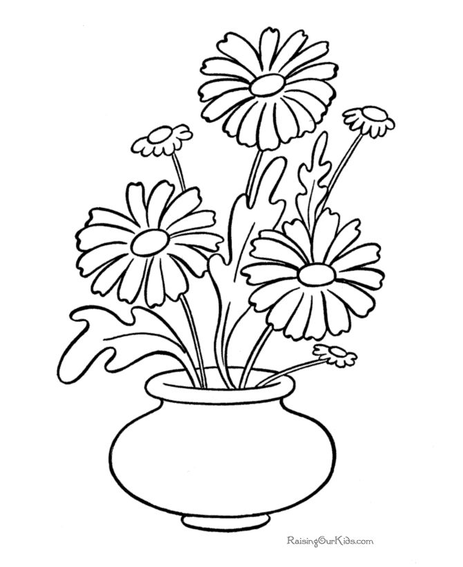 Daisy Coloring Pages To Print