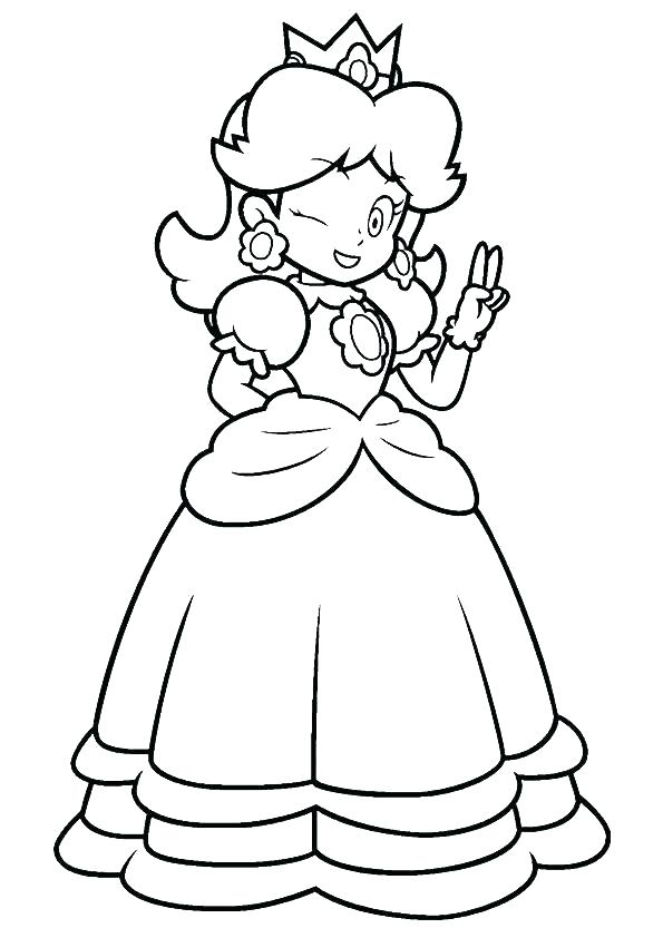 595x842 Daisy Coloring Pages Princess Daisy Coloring Pages Page Free