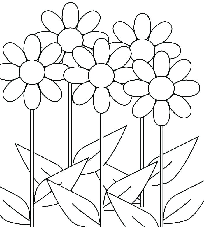 700x778 Daisy Scout Flower Coloring Pages Printable Coloring Daisy