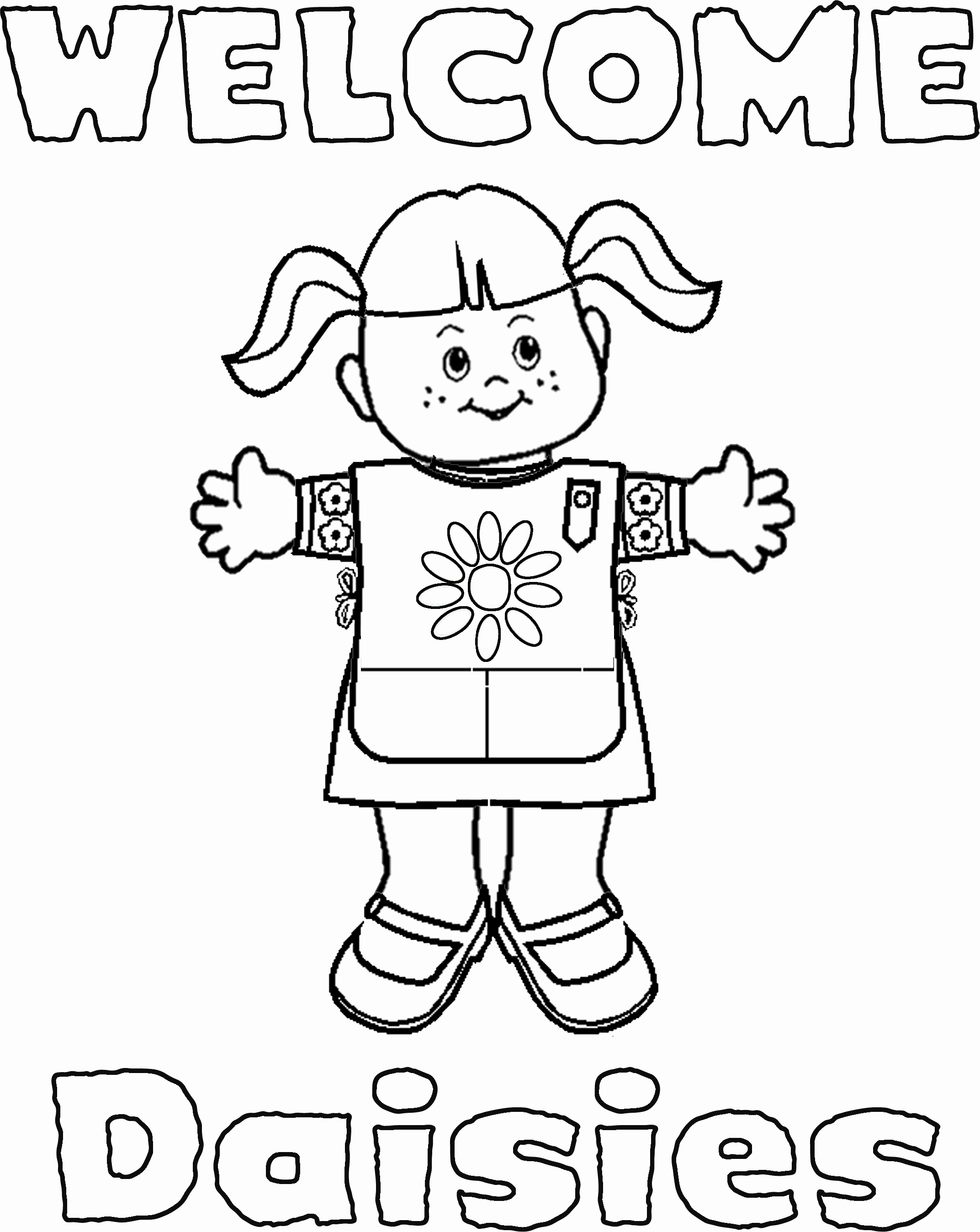 2145x2697 Free Preschool Coloring Pages New Girl Scout Daisy Coloring Pages