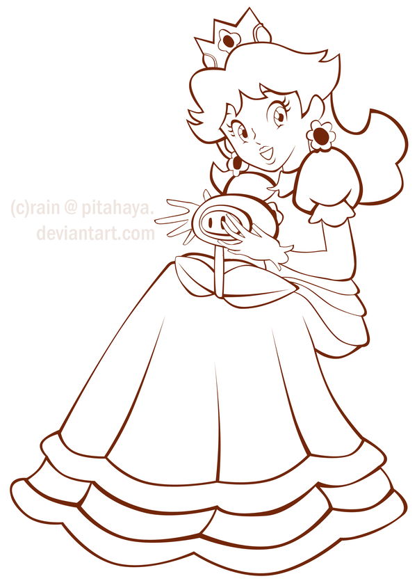 600x835 Princess Daisy Coloring Pages