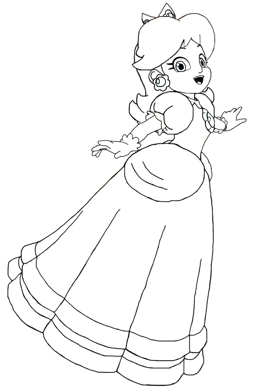 885x1371 Coloring Pages Princess Peach Coloring Pages Terrific Paper