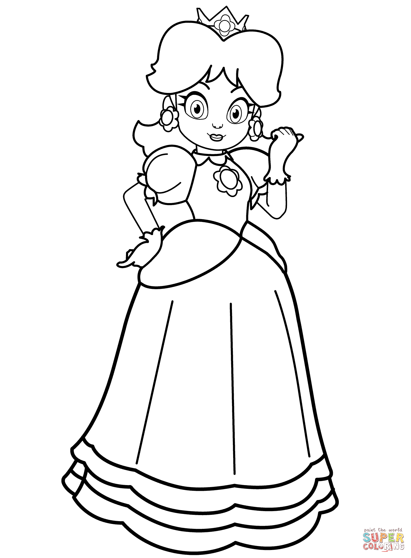 1435x1951 Princess Daisy Coloring Page Free Printable Coloring Pages
