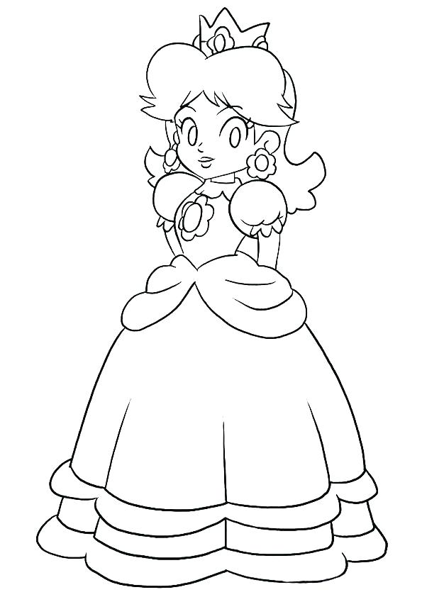 595x842 Daisy Coloring Pages Coloring Pages Princess Peach Princess Peach