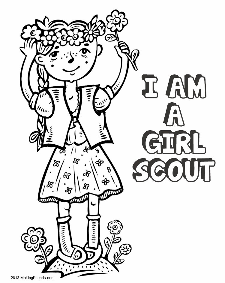 750x943 Daisy Girl Scout Coloring Pages