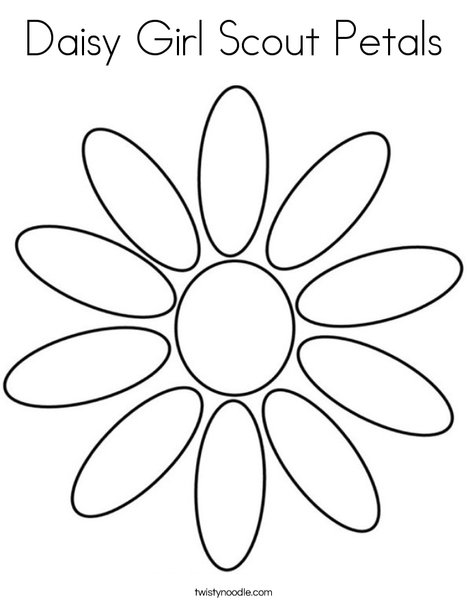 468x605 Daisy Girl Scout Petals Coloring Page
